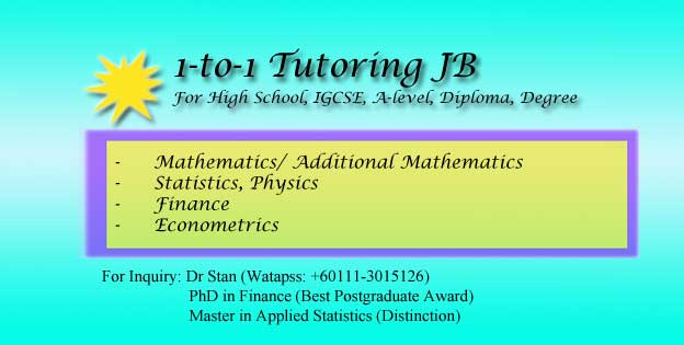 Business Statistics Home Tutor Kulai